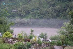 56. Foggy river