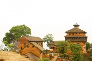 The Durbar nuwakot palace as seen from Taleju that was built in malla period