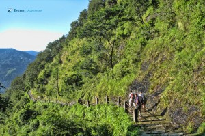 Stone paved way to Ghandruk
