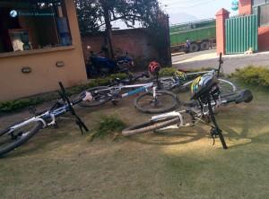 19. Bikes waiting for bikers