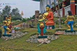 40. Buddha giving peace sign