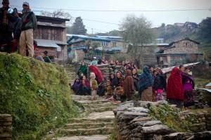 56. People staring at us as we reach Gumda