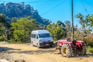 40. Van vs Tractor