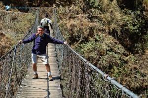 Suspense bridge on the way to Yarmasing Fort