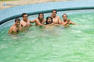 12. Swimming to escape the heat