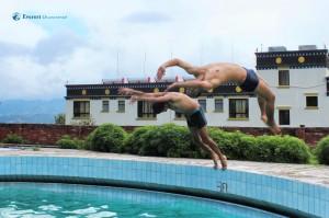 13. Semi somersault