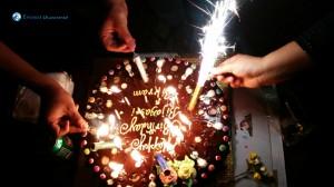 24. Funny tasting bday cake ;)
