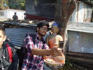 21. Shelfie with buddha