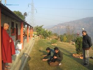 26. Practising to bow before Bhante ji