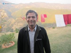 34. Lava Kafle Smiles at Bhikkhu Sadhana Sthal Dhading
