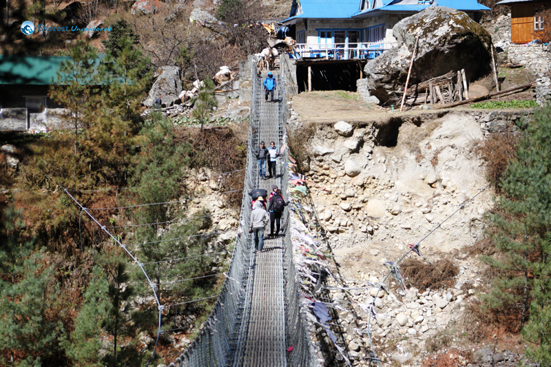 18. Scary suspension bridge