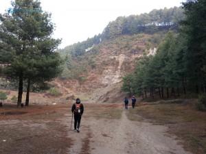 6. Approaching steep climb