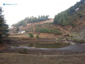 7. Pond at the bottom of the climb