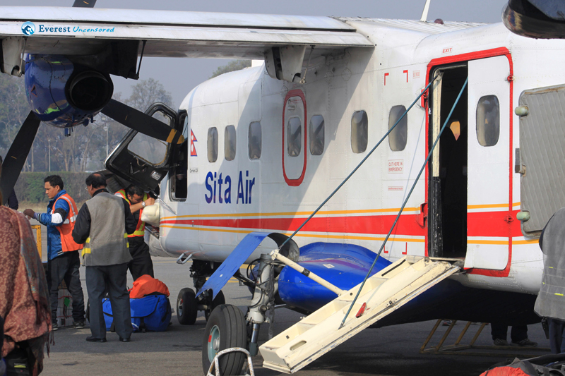 7. Sita Air flight from Kathmandu to Lukla