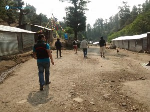 38. Exploring the makeshift village
