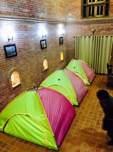21. Camping indoors
