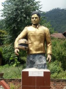 1. Bike racer statue
