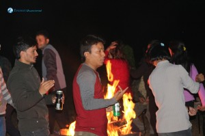30. Dancing around the campfire