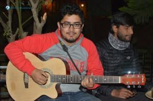 9. Divesh singing his own composed song chari