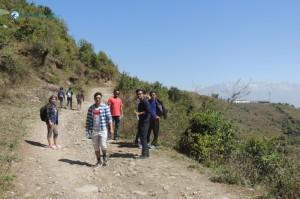 15) Up toward hills