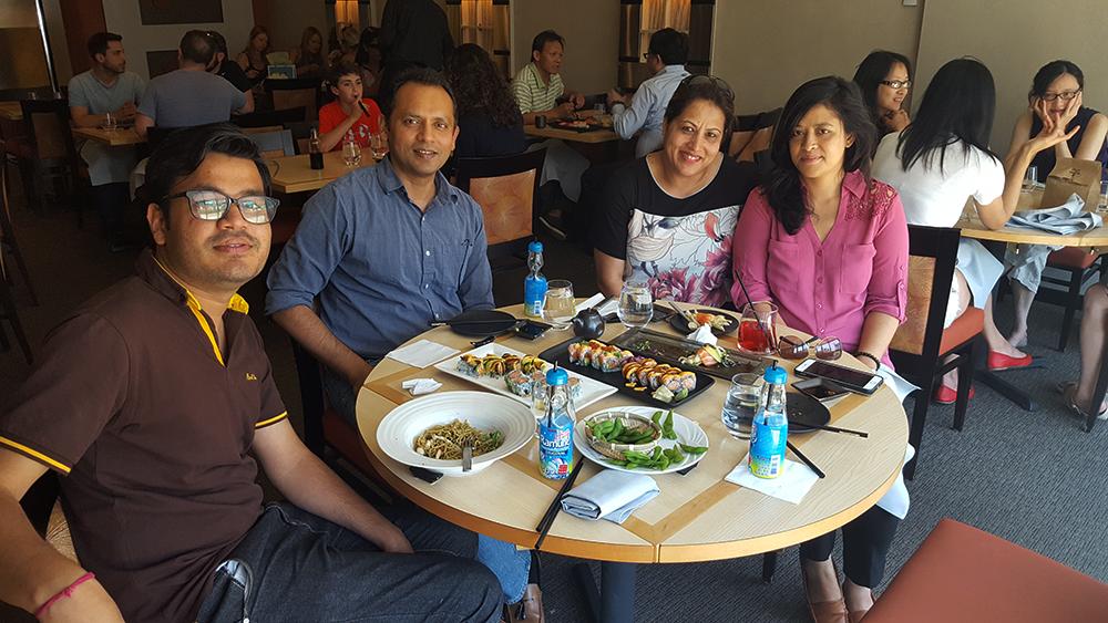 Sushi Lunch with Muna Bhauju