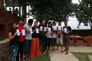 11. Winning team of word making