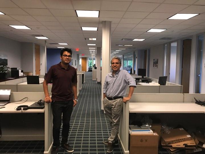 Lexington office with Rudra dai