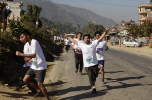 11. Marathon begins