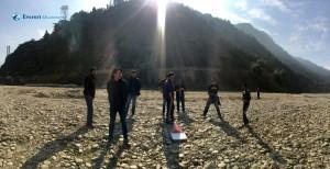 3. Taking break by the river side