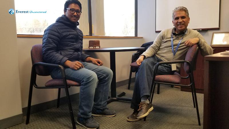 With Rudra dai @ Deerwalk US Office