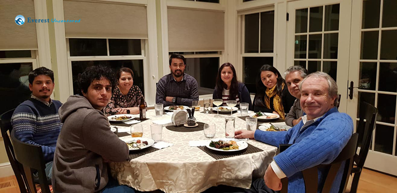 Dinner with Rudra dai and Muna Bhauju