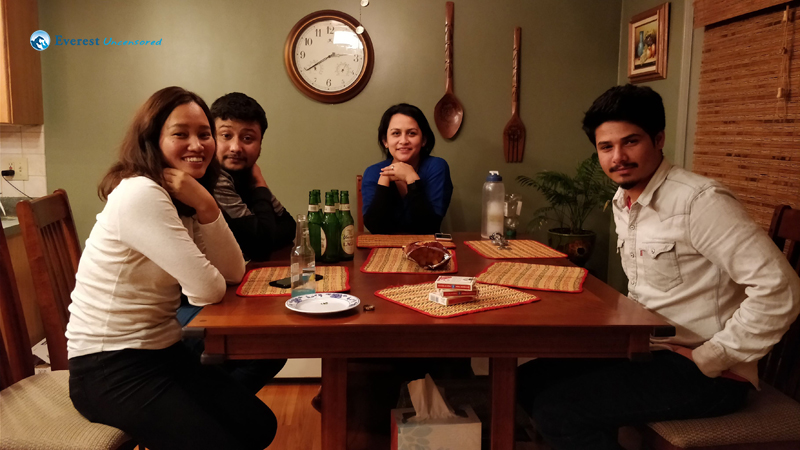 Dinner and Drinks at Smriti Di's place