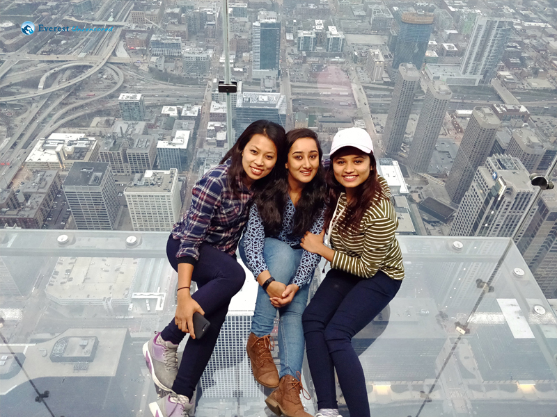 With my girls - Willis Tower, Chicago