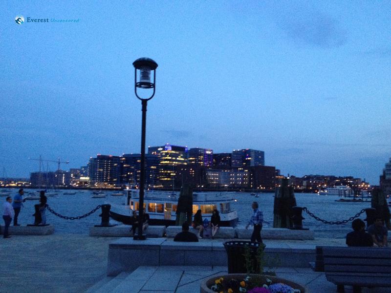 Evening Skies at the Boston Docks