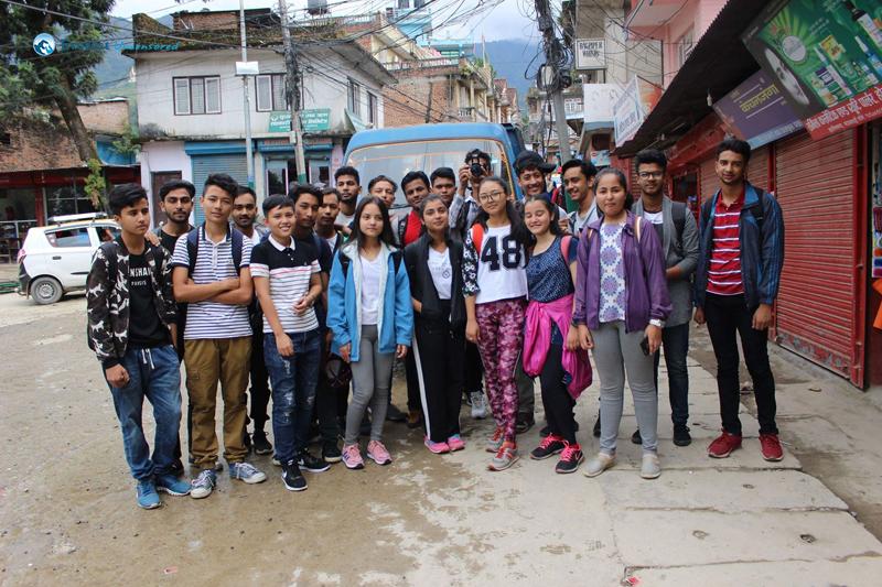14. Group photo at Budhanilkantha