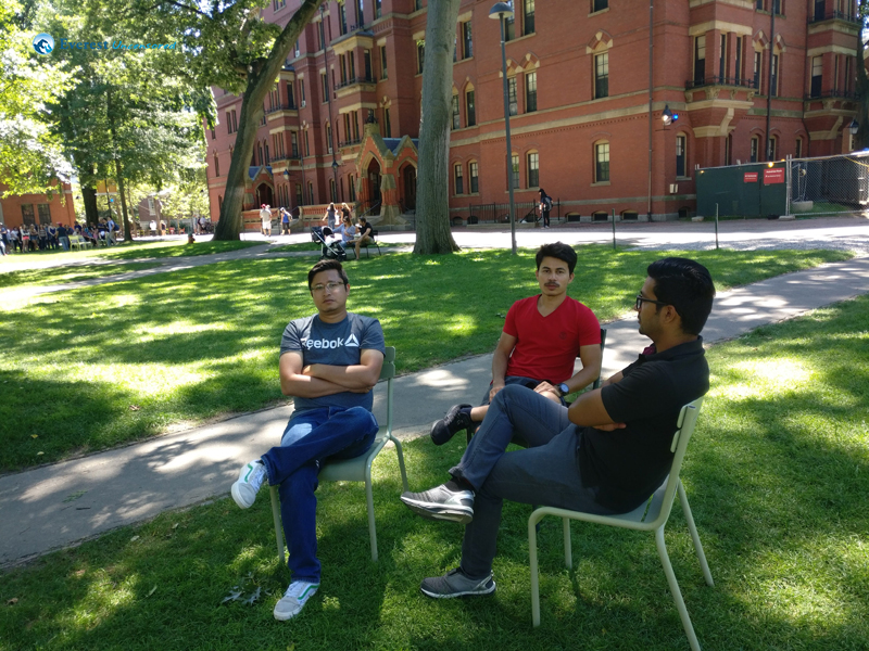 At the Harvard University