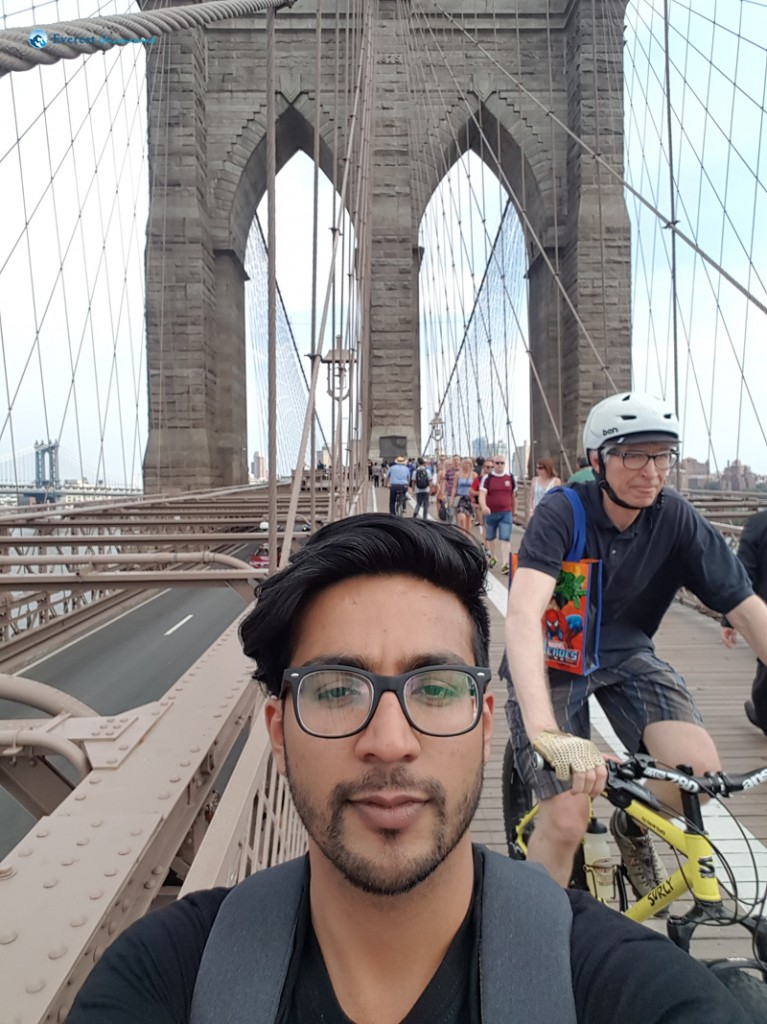 Selfie with Brooklyn bridge