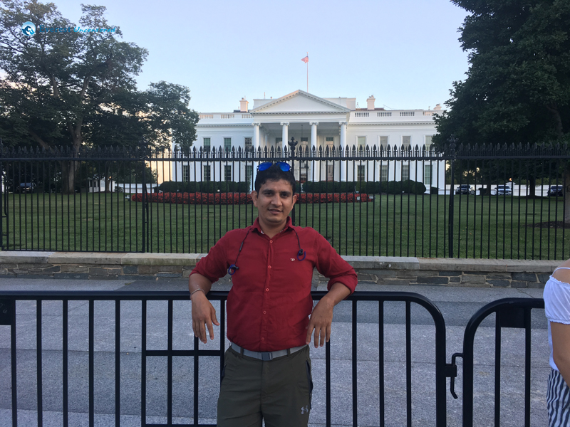 In front of WhiteHouse, Washington DC