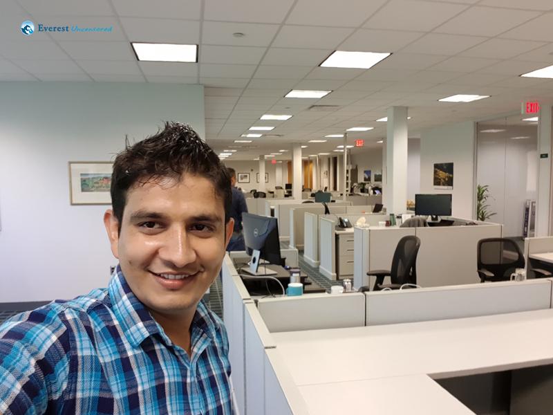 Selfie inside US office