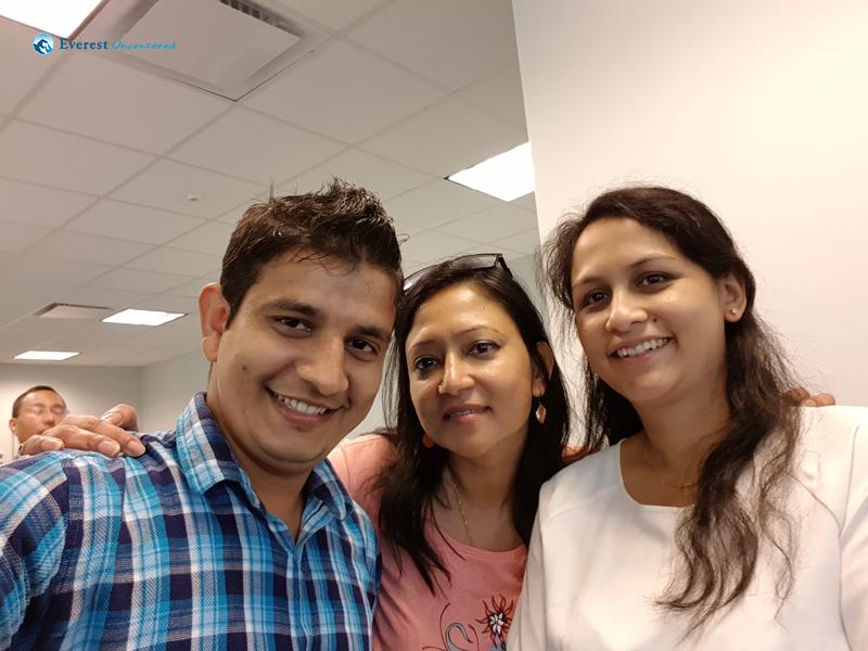 With Mukta Di & Smriti Di