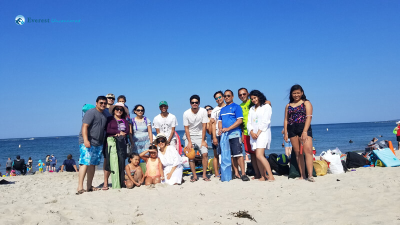 At Crane Beach with Deerwalk US Family