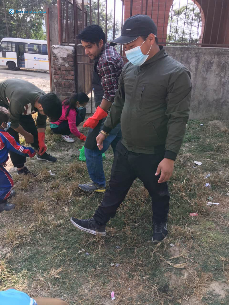 10 Bimal And Santosh Collecting Plastic Trash