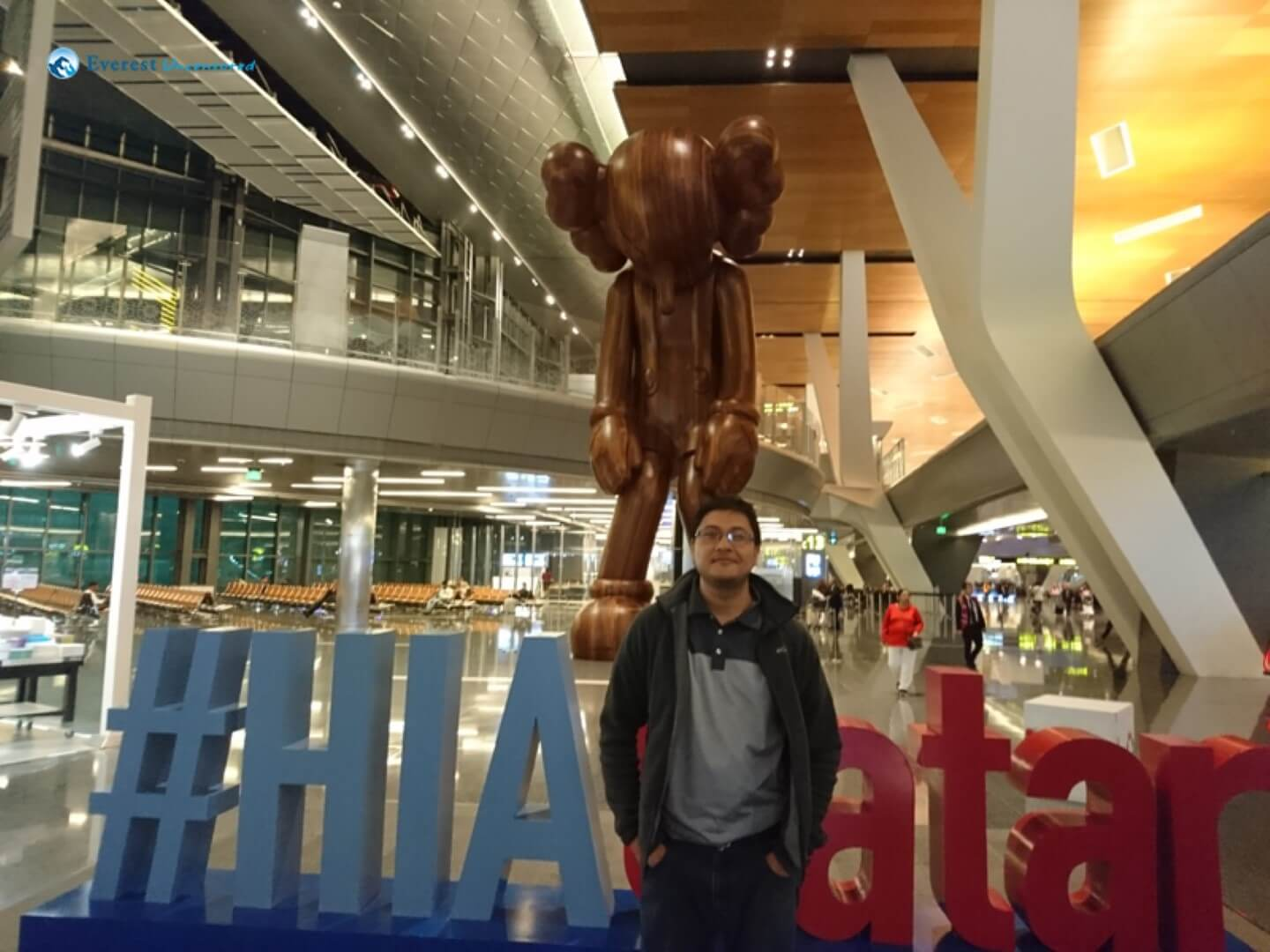At Doha Airport