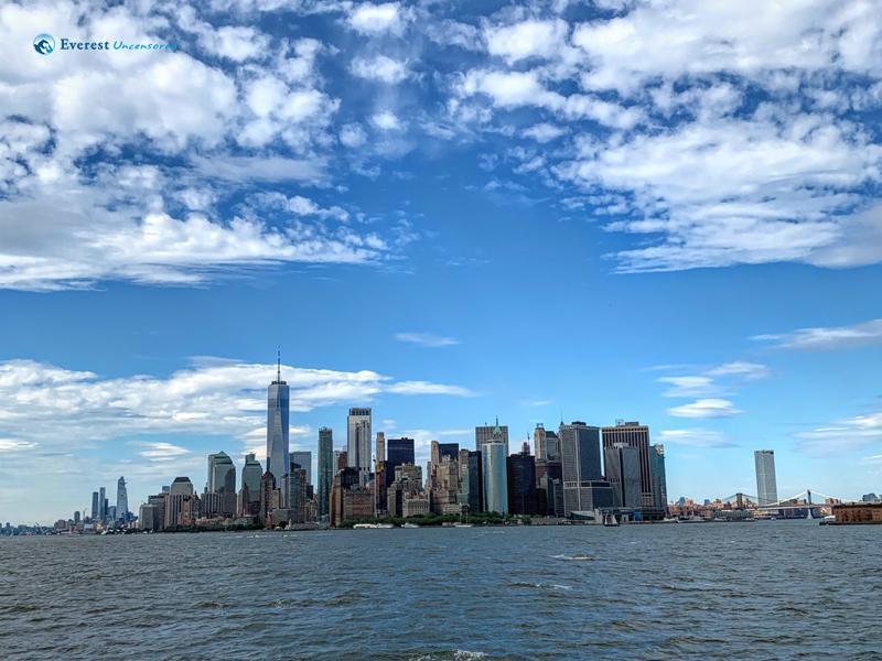 Newyork Skyline From Staten Island Ferry 2