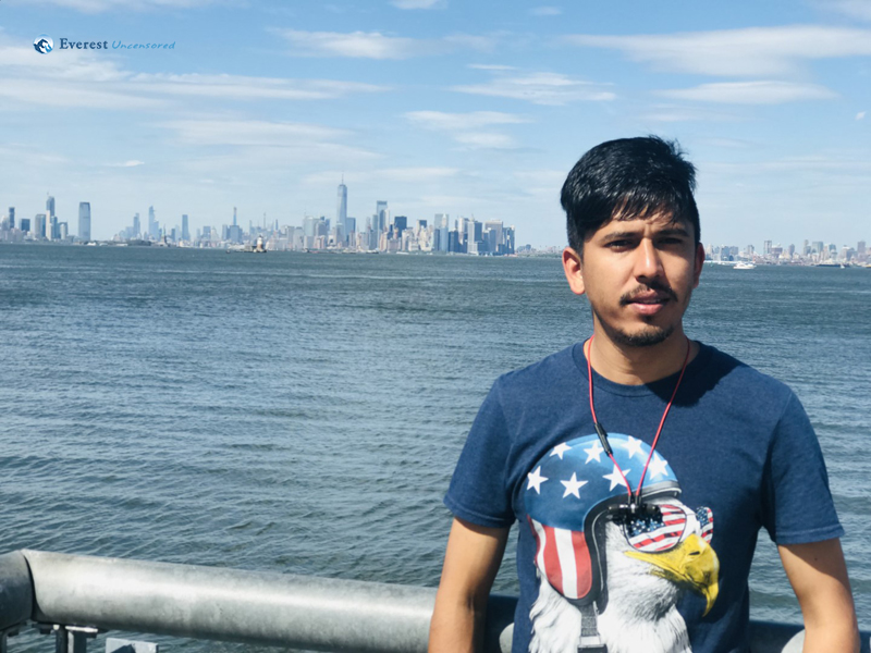 6. Trying To Capture The Statue Of Liberty Within Frame