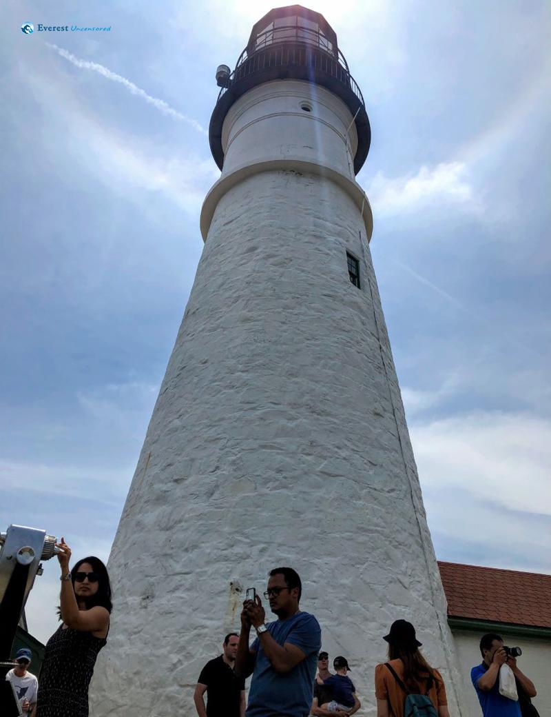 Maine Lighthouse Of Cape Elizabeth, Maine