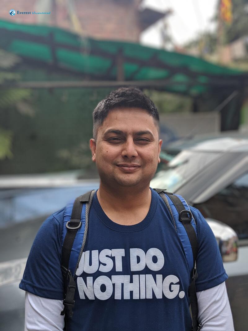 Hiker Dr. Aseem Bhattarai