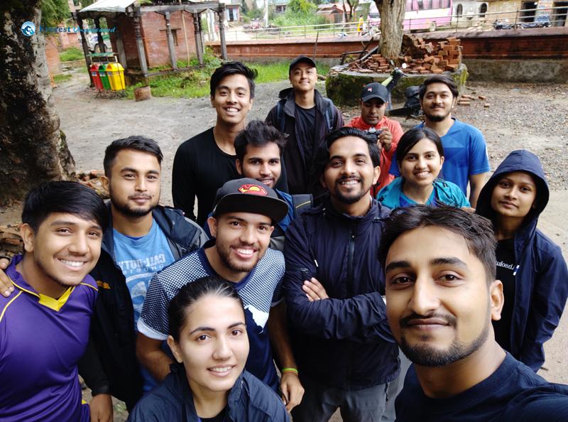 22.selfie With Hikers