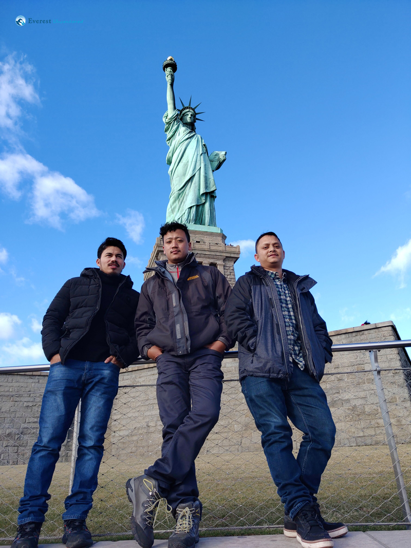 Liberty Island With Guys