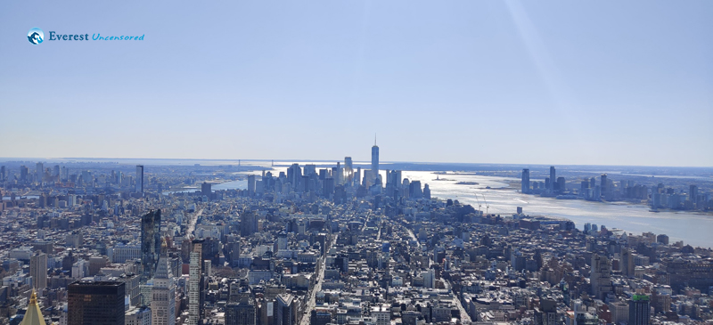 6. Lady Liberty And The Bridge From 102 Empire State